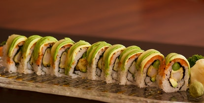 Sushi made from veggies and tempura are safe options during pregnancy.