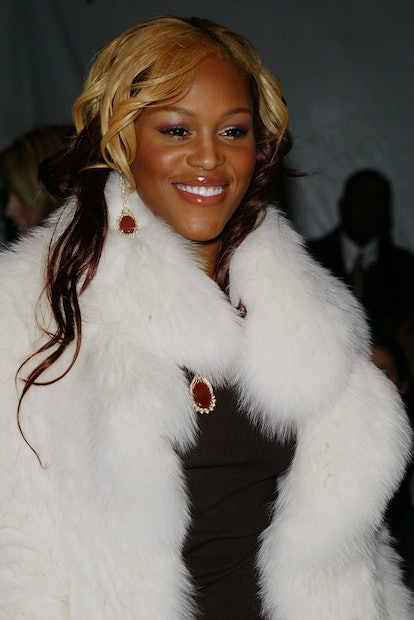 NEW YORK - FEBRUARY 11:  Rapper Eve attends the J. Mendel 2004 Fall fashion show during Olympus Fash...