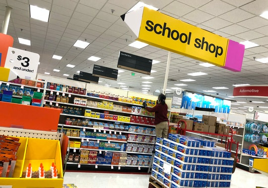 school supplies at a target store