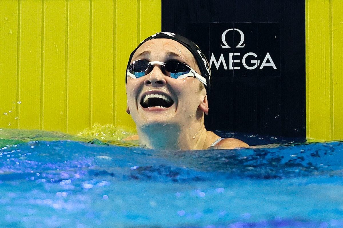 Annie Lazor is on the 2021 U.S. Olympic Swim Team