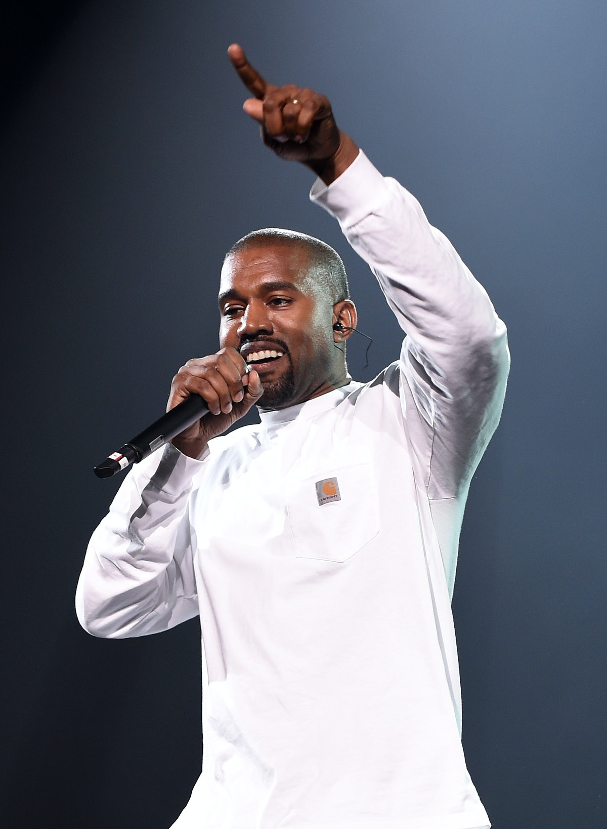 NEW YORK, NY - SEPTEMBER 04:  Kanye West performs during Puff Daddy and Bad Boy Family Reunion Tour ...