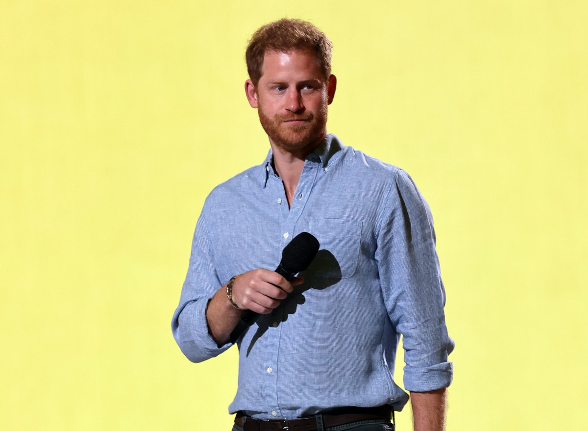INGLEWOOD, CALIFORNIA: In this image released on May 2, Prince Harry, The Duke of Sussex speaks onst...