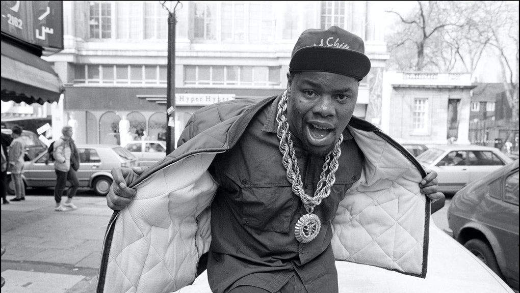 Biz Markie at Kensington High Street, London, UK on 6 April 1988. (Photo by David Corio/Redferns)