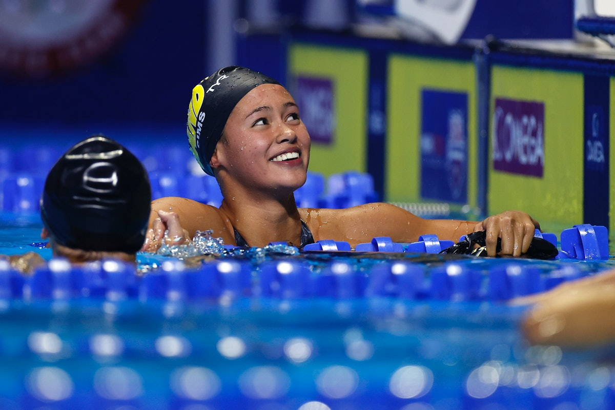 Bella Sims is on the 2021 U.S. Olympic Swim Team