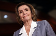 WASHINGTON, DC - JUNE 30: Speaker of the House Nancy Pelosi (D-CA) speaks at a press conference on t...