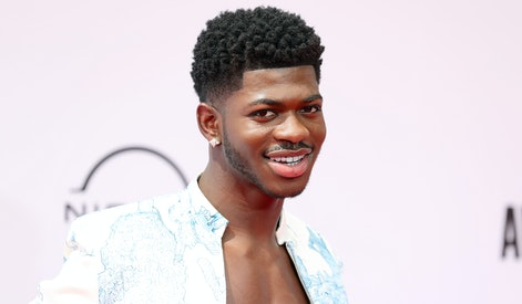 LOS ANGELES, CALIFORNIA - JUNE 27: Lil Nas X attends the BET Awards 2021 at Microsoft Theater on June 27, 2021 in Los Angeles, California. (Photo by Rich Fury/Getty Images,,)
