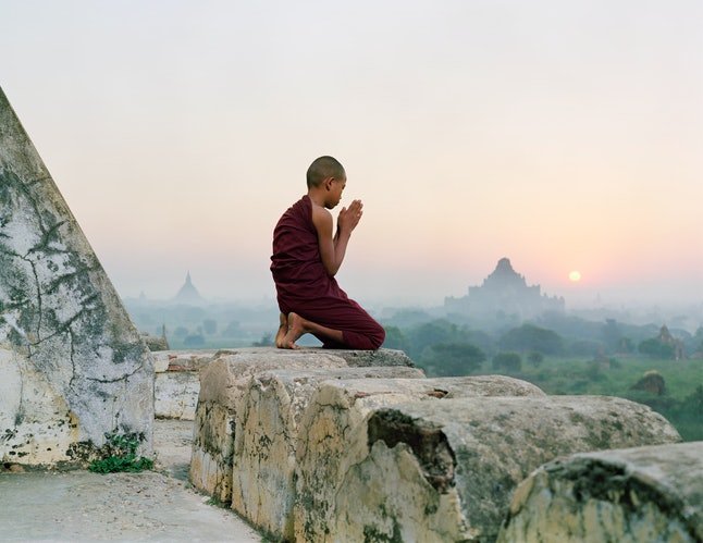In Asian cultures, mindfulness is deeply intertwined with Buddhism. The Print Collector/Getty Images
