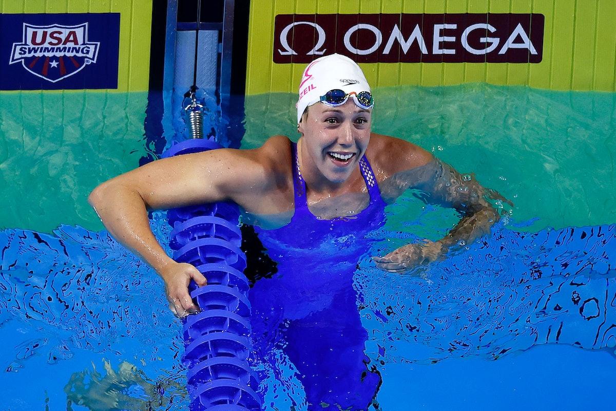Abbey Weitzeil is on the 2021 U.S. Olympic Swim Team