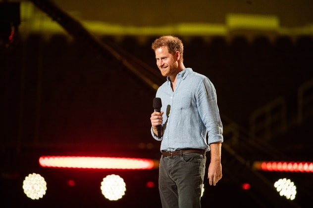 Prince Harry appeared at the VaxLive concert in May.