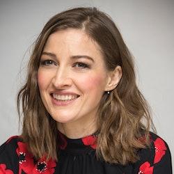 "LONDON, ENGLAND - SEPTEMBER 19:  Kelly Macdonald at the ""Goodbye Christopher Robin"" Press Conference..."