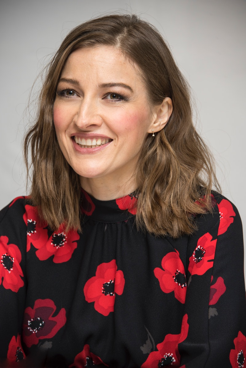 """LONDON, ENGLAND - SEPTEMBER 19:  Kelly Macdonald at the """"Goodbye Christopher Robin"""" Press Conference at the Langham Hotel on September 19, 2017 in London, England.  (Photo by Vera Anderson/WireImage)"""