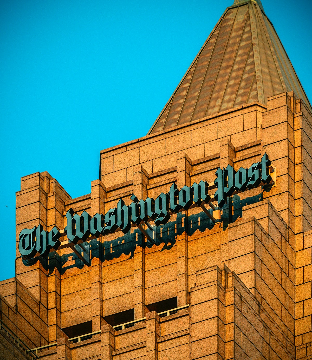 WASHINGTON, DC - DECEMBER 16: The exterior of The Washington Post via Getty Images building at One F...