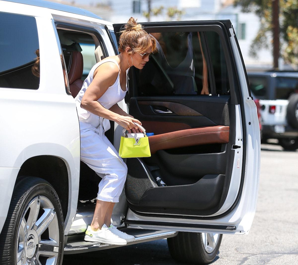 Jennifer Lopez is seen in Los Angeles, California in July 2021.