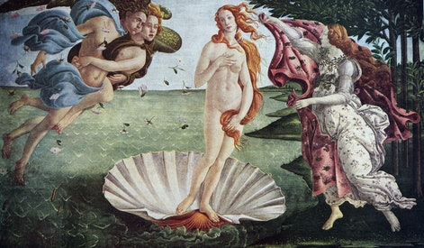 Painting titled 'The Birth of Venus' by Sandro Botticelli. Alessandro di Mariano di Vanni Filipepi (1445-1510) an Italian painter of the Early Renaissance. (Photo by: Universal History Archive/Universal Images Group via Getty Images)