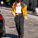 NEW YORK, NEW YORK - OCTOBER 20: Bella Hadid is seen in SoHo on October 20, 2020 in New York City. (Photo by Gotham/GC Images)
