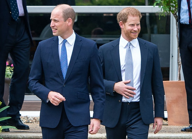 Prince Harry and Prince William met up on their mother's birthday for a state unveiling.
