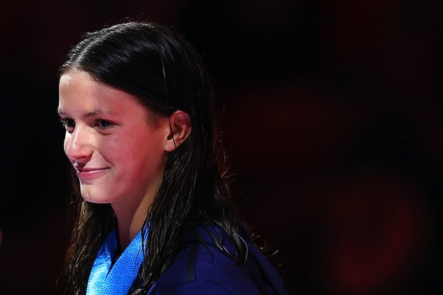 Katie Grimes is a 15-year-old swimmer.