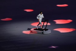 A boxing nurse helped to open the Tokyo Olympics.