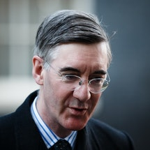 Lord President of the Council and Leader of the House of Commons Jacob Rees-Mogg, Conservative Party MP for North East Somerset, arrives on Downing Street ahead of the weekly cabinet meeting, currently being held at the Foreign, Commonwealth and Development Office (FCDO), in London, England, on December 1, 2020. (Photo by David Cliff/NurPhoto via Getty Images)