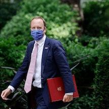 Britain's former Health Secretary Matt Hancock walks along Downing Street