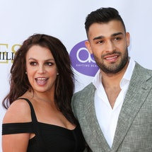 LOS ANGELES, CALIFORNIA - SEPTEMBER 20: Britney Spears (L) and Sam Asghari (R) attend the 2019 Daytime Beauty Awards at The Taglyan Complex on September 20, 2019 in Los Angeles, California. (Photo by Paul Archuleta/FilmMagic )