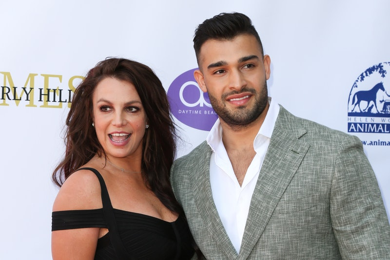 LOS ANGELES, CALIFORNIA - SEPTEMBER 20: Britney Spears (L) and Sam Asghari (R) attend the 2019 Dayti...