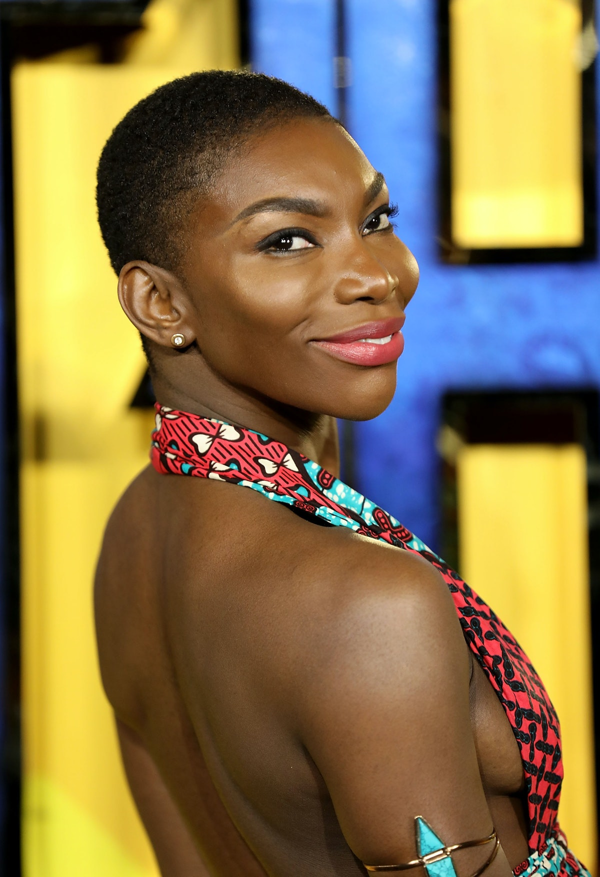 LONDON, ENGLAND - FEBRUARY 08:  Michaela Coel attends the European Premiere of 'Black Panther' at Ev...