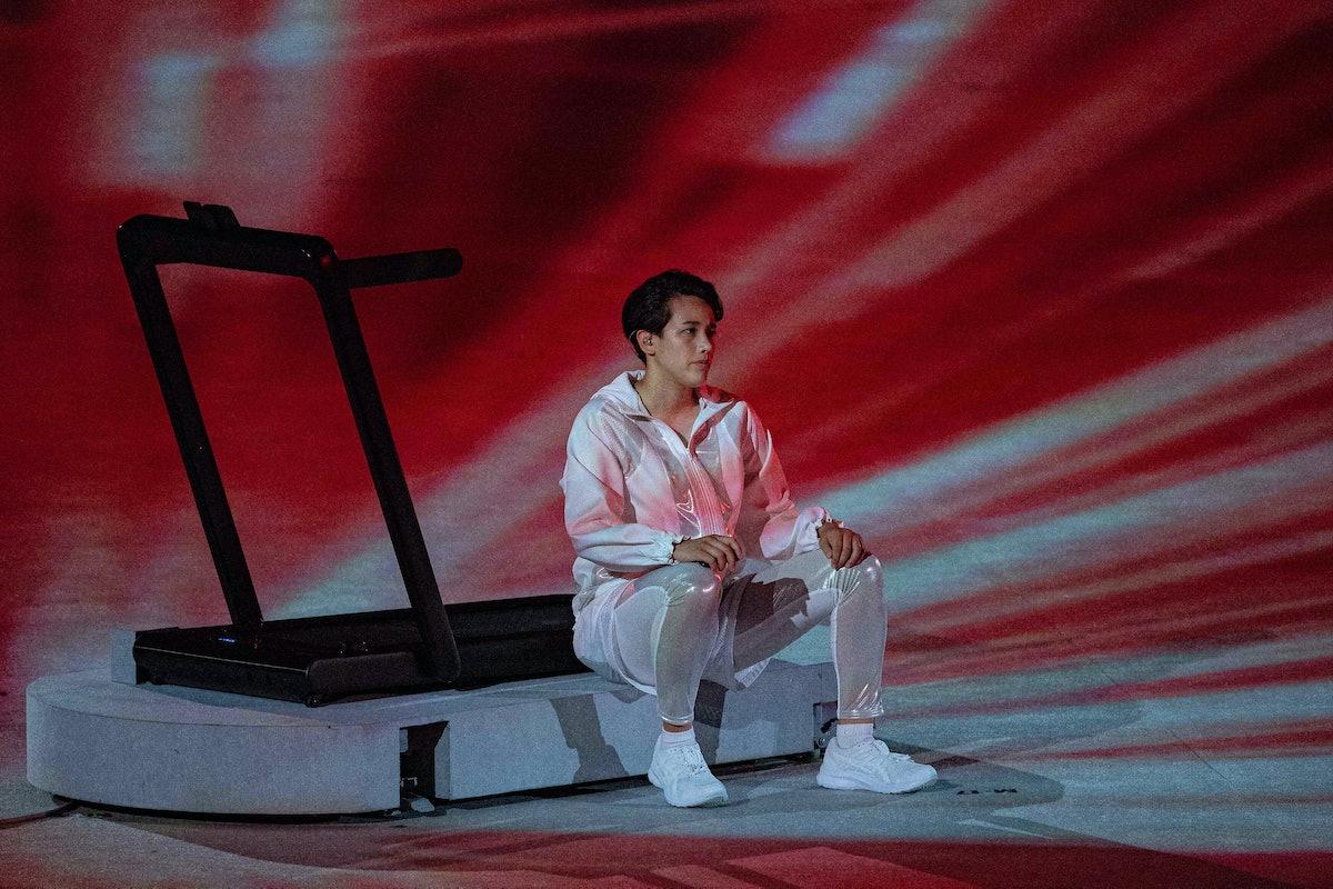Arisa Tsubata at the 2021 Olympics opening ceremony.