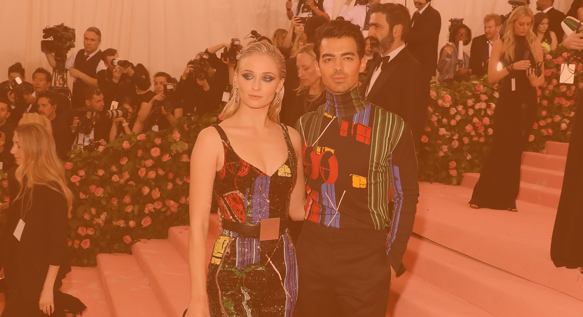 """NEW YORK, NY - MAY 06:  Sophie Turner and Joe Jonas attend the 2019 Met Gala celebrating """"Camp: Note..."""