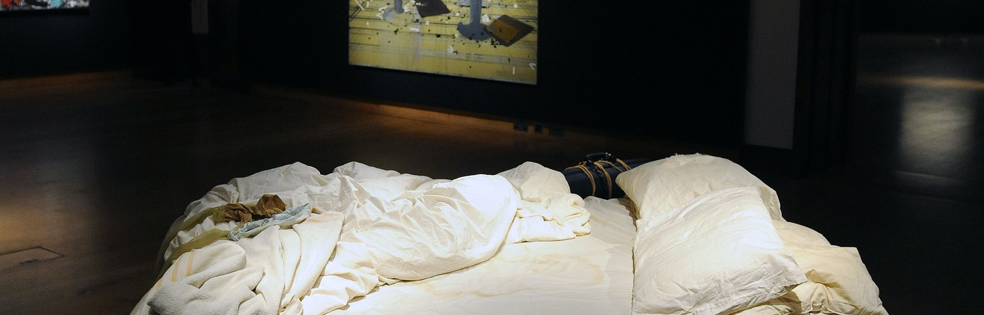 Tracey Emin's 'My Bed' which is to be offered at auction for the first time with an estimate of 800,...