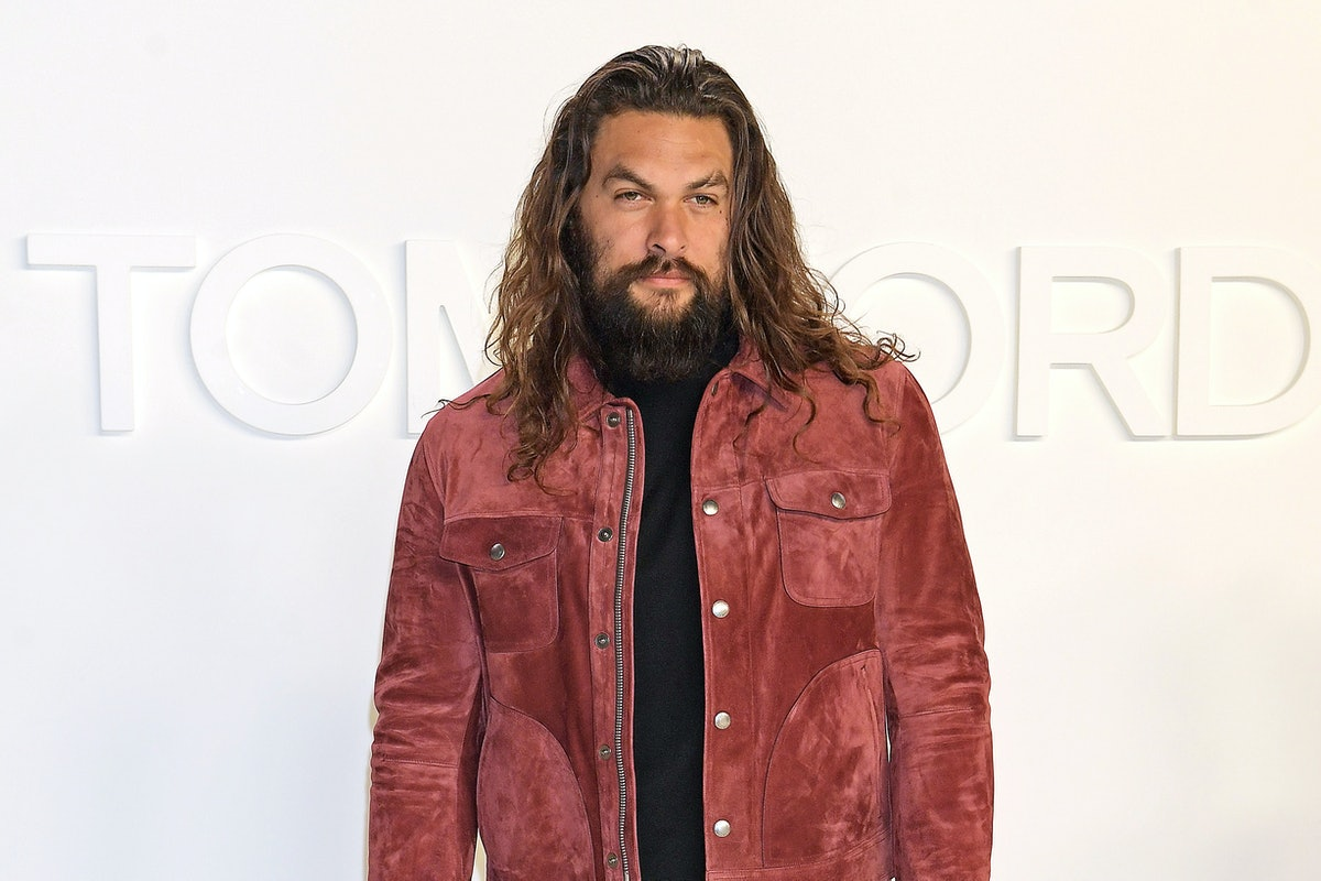 HOLLYWOOD, CALIFORNIA - FEBRUARY 07:  Jason Momoa attends the Tom Ford AW20 show at Milk Studios on ...