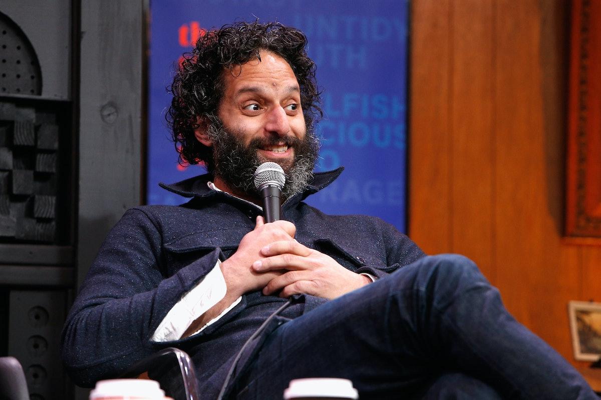 PARK CITY, UT - JANUARY 26:  Jason Mantzoukas speaks at the Cinema Cafe #9 during 2018 Sundance Film...