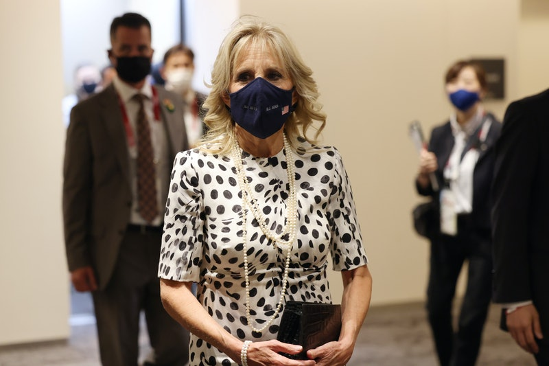 At the Olympics 2021 opening ceremony, Jill Biden made a supportive statement through her Brandon Ma...