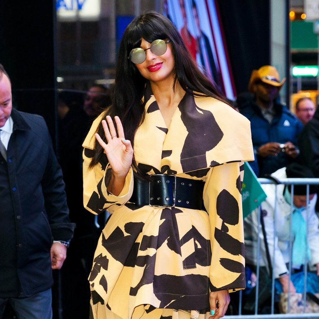 NEW YORK, NEW YORK - MARCH 10: Jameela Jamil at GMA on March 10, 2020 in New York City. (Photo by Ja...