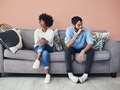 A woman realizes she's dating someone not over their ex.