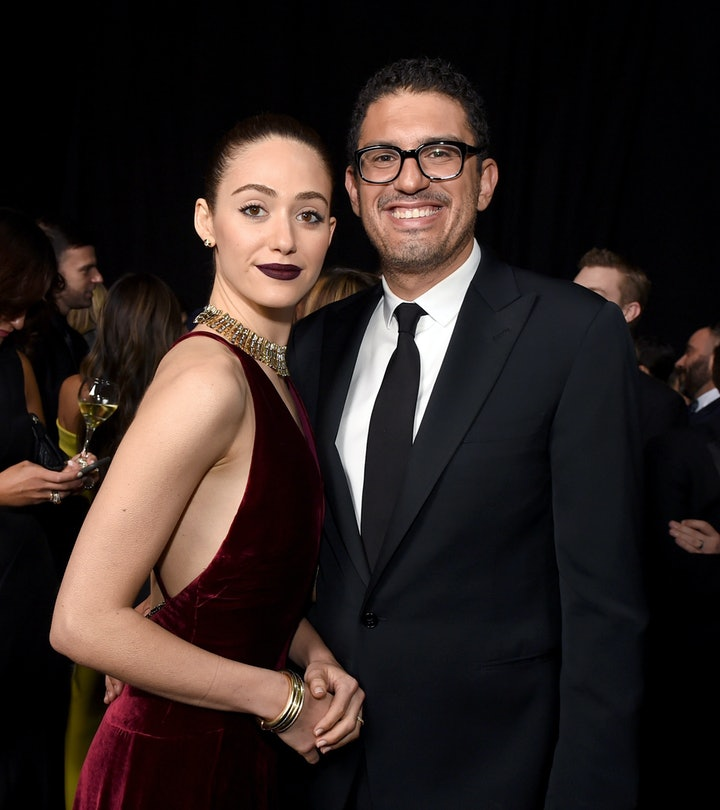 Emmy Rossum and her husband, Sam Esmail, shared the first photo of their daughter together on Instag...