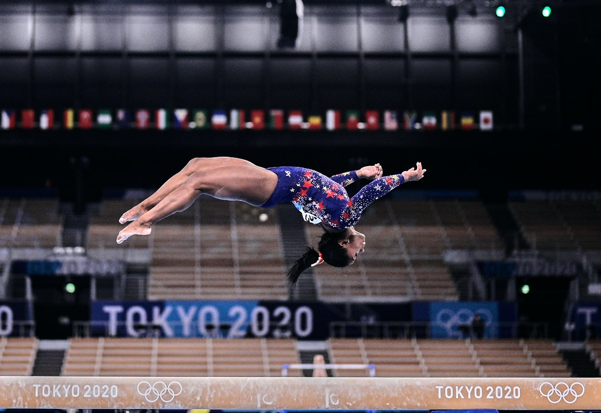 Some Team USA gymnasts were spotted wearing different color leotards.