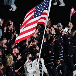 Team USA at the 2021 Olympics Parade of Nations. Which country has the biggest Olympic team? Team US...