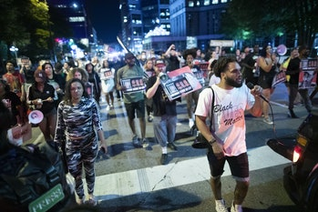 MINNESOTA, USA - JUNE 25: Protesters march through the streets of Minneapolis. The goal of the prote...