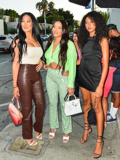 LOS ANGELES, CA - JULY 20: Kimora Lee Simmons, Aoki Lee Simmons  and Ming Simmons are seen on July 2...