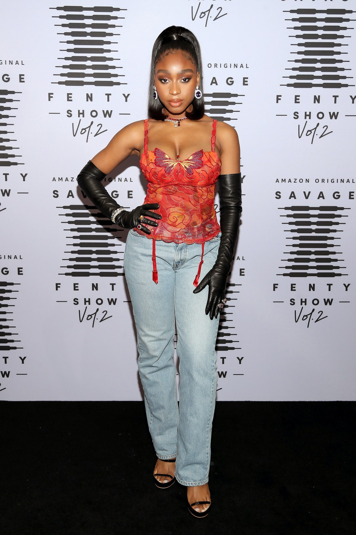 LOS ANGELES, CALIFORNIA - OCTOBER 1: (EDITORS NOTE: This image has been retouched) In this image released on October 1, Normani attends Rihanna's Savage X Fenty Show Vol. 2 presented by Amazon Prime Video at the Los Angeles Convention Center in Los Angeles, California; and broadcast on October 2, 2020. (Photo by Jerritt Clark/Getty Images for Savage X Fenty Show Vol. 2 Presented by Amazon Prime Video)