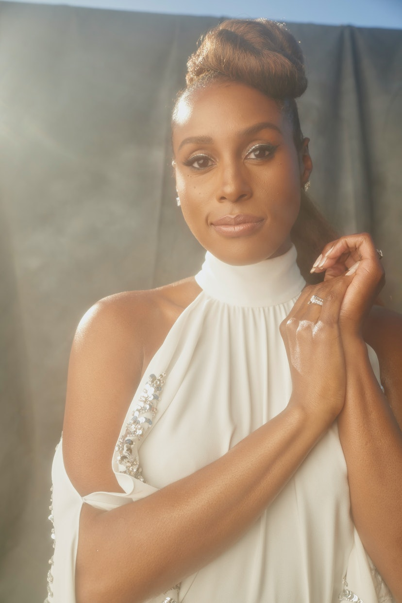 LOS ANGELES, CALIFORNIA - MARCH 27:  Issa Rae gets ready for the 52nd NAACP Image Awards on March 27, 2021 in Los Angeles, California. (Photo by Lee Vuitton/AM PR Group via Getty Images)