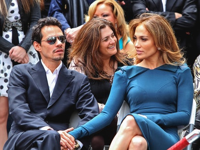 LOS ANGELES, CA - MAY 23: Marc Anthony and Jennifer Lopez are seen during Simon Fuller star ceremony...