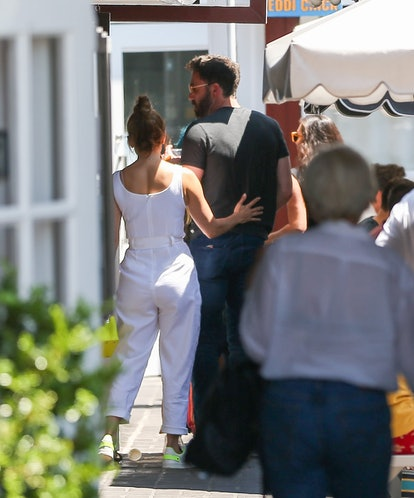 LOS ANGELES, CA - JULY 09: Jennifer Lopez and Ben Affleck are seen on July 09, 2021 in Los Angeles, ...