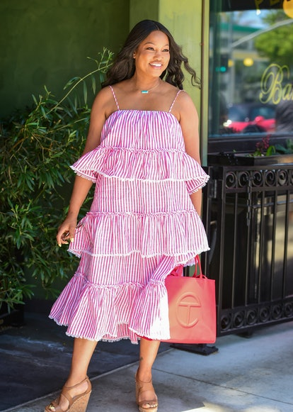 LOS ANGELES, CA - JULY 07: Garcelle Beauvais is seen on July 07, 2021 in Los Angeles, California.  (...