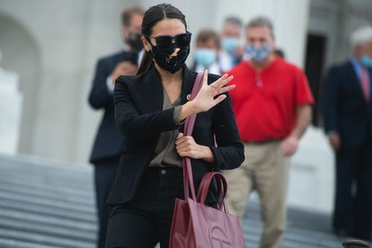 UNITED STATES - AUGUST 22: Rep. Alexandria Ocasio-Cortez, D-N.Y., leaves the Capitol as the House vo...