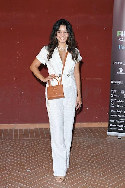 CAGLIARI, ITALY - JULY 22: Vanessa Hudgens attends the Filming Italy Festival at Forte Village Resor...