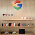 The new Google Pixel 4 phone is on display during a Google product launch event called Made by Googl...
