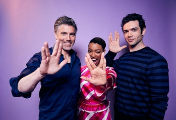 Anson Mount, Sonequa Martin-Green, and Ethan Peck of CBS's 'Star Trek: Discovery' pose for a portrai...