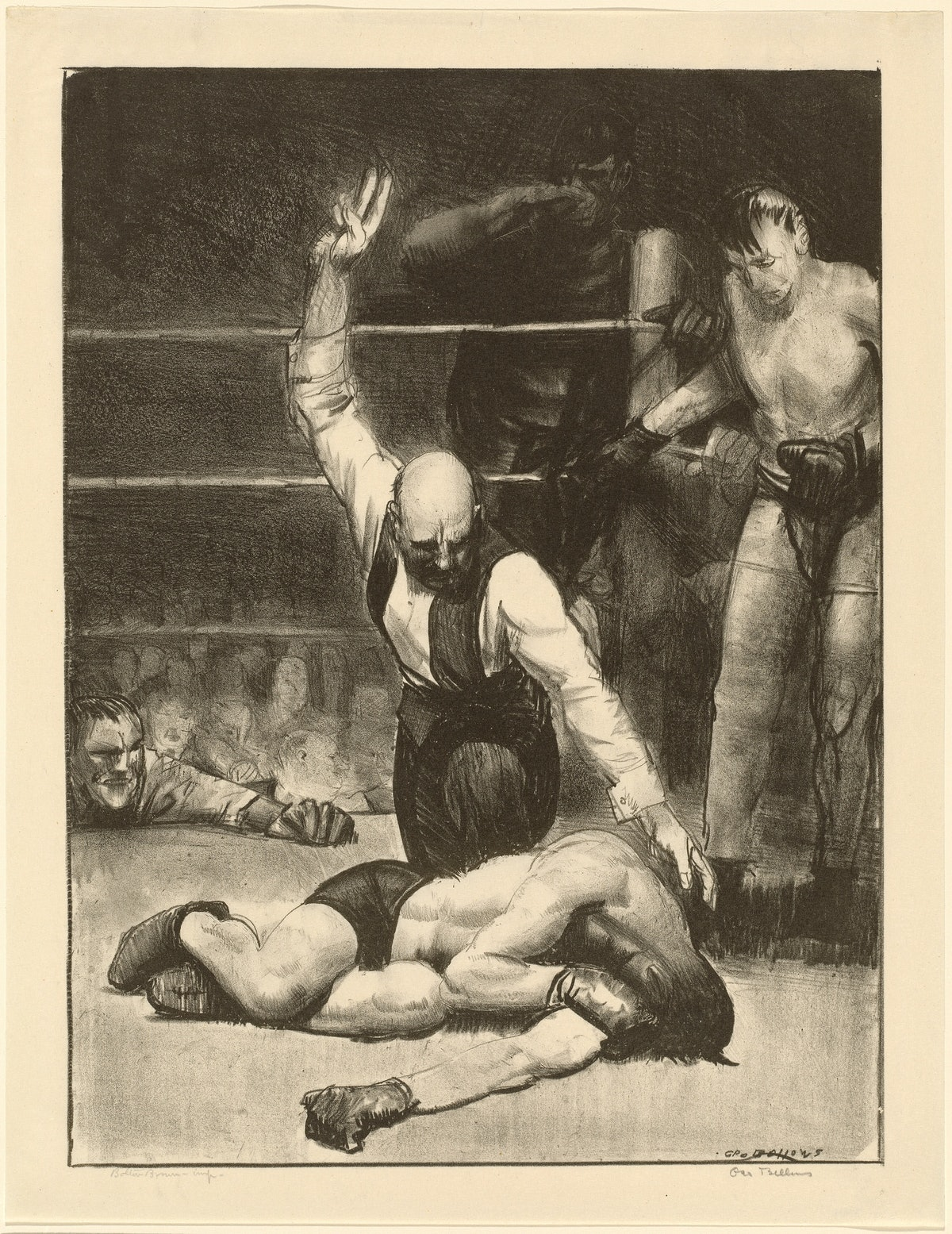 Counted Out, second stone, 1921. Artist George Wesley Bellows. (Photo by Heritage Art/Heritage Image...